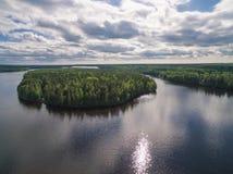 Rivière de Svir, Carélie, Russie photographie stock