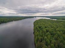 Rivière de Svir, Carélie, Russie Photographie stock libre de droits