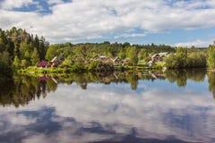Rivière de Svir La Carélie Russie images stock