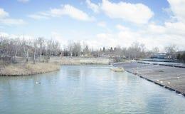Rivière de Tajo Jardins de la ville d'Aranjuez, située dans l'Espagne S Image stock