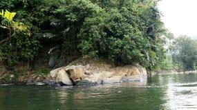 Rivière de Tamparuli Images libres de droits