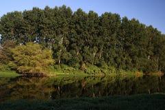 Rivière de Vienne, vue de saint Germain de Confolens, France photos stock