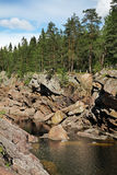Rivière de Vuoksi dans Imatra finland photo stock