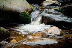 Rivière de Vydra, montagnes de Sumava, République Tchèque, l'Europe. Images stock