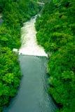 Rivière de Waikato employée pour faire à travail la centrale hydroélectrique, Arapuni, Nouvelle-Zélande images libres de droits
