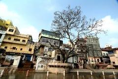 Rivière de Yamuna : Ghats de Mathura Photos stock