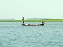 Rivière de Yamuna, le fleuve Brahmapoutre, Bogra, Bangladesh Images libres de droits