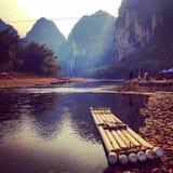 Rivière de Yangshuo Images libres de droits