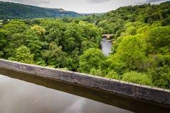 Rivière Dee Wales, R-U de paysage photo stock