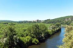 Rivière Dordogne dans les Frances image libre de droits