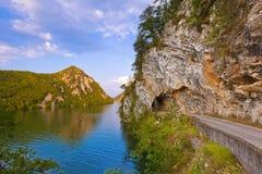 Rivière Drina - parc naturel national en Serbie images libres de droits