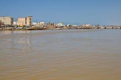 Rivière du Sénégal dans le Saint Louis, Afrique Photos stock