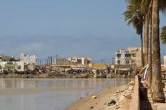 Rivière du Sénégal dans le Saint Louis, Afrique Photographie stock libre de droits