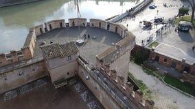 Rivière du Tibre, ville, photographie aérienne, zone urbaine, règlement humain Photos libres de droits
