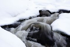 Rivière en hiver Image libre de droits