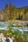 Rivière en montagnes Photos stock