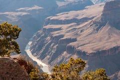 Rivière en parc national Rim Magnificent Landscape du nord, Arizona, Etats-Unis de Grand Canyon image stock