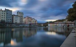 Rivière en pierre à Lyon Photo stock