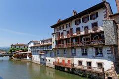 Rivière en Saint-Jean Pied de Port Images libres de droits