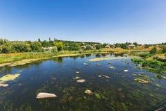Rivière envahie, Ukraine Image libre de droits