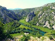 Rivière et canyon Photo libre de droits