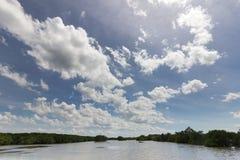 Rivière et ciel bleu Image libre de droits