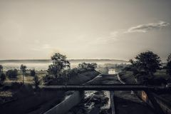 Rivière et inondation images libres de droits