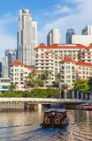 Rivière et le négociant Court Hotel de Singapour de Swissotel Image stock