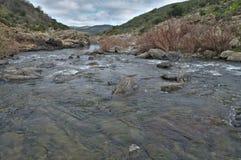 Rivière et montagnes Photographie stock libre de droits