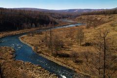 Rivière exempte de glace Images libres de droits