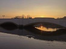 Rivière Frome au coucher du soleil Photo libre de droits