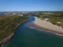 Rivière Gannel et Newquay photos stock