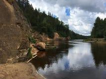 Rivière Gauja Image stock