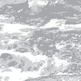 Rivière grise de montagne illustration de vecteur