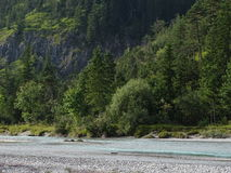 Rivière Isar près de Vorderriß Image libre de droits