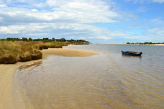 Rivière isolée de Canleones Photos libres de droits