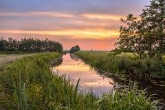 Rivière Koningsdiep de plaine Photo stock
