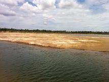 Rivière Krishna Photos libres de droits