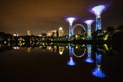 Rivière légère Singapour Photographie stock libre de droits