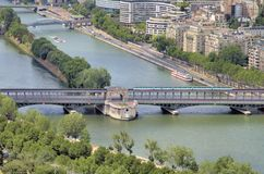 Rivière la Seine Image libre de droits