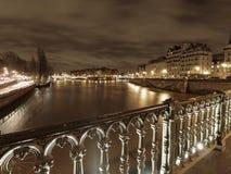 Rivière la Seine en hiver Photo stock