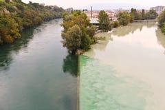 Rivière le Rhône Image libre de droits