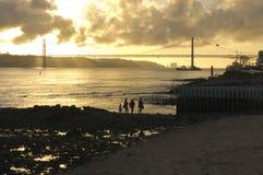Rivière le Tage Lisbonne Portugal Photographie stock libre de droits
