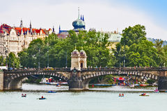 Rivière Moldau à Prague Photos libres de droits