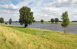 Rivière néerlandaise Bergsche Maas Image libre de droits