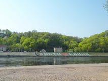 Rivière Nemunas dans la ville de Kaunas Images stock
