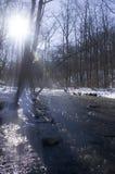 Rivière paisible de l'hiver Photo libre de droits
