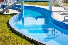 Rivière paresseuse dans la piscine Images libres de droits