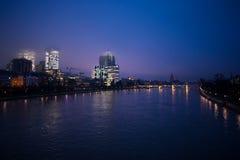 Rivière principale à Francfort Photos libres de droits