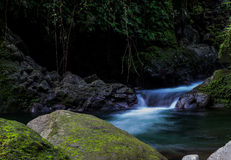 Rivière romantique en belle nature Photo stock